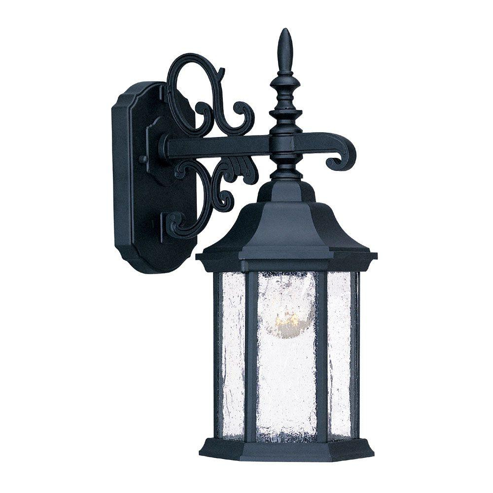 Latest Acclaim Lighting Madison Collection 1 Light Matte Black Inside Mccay Matte Black Outdoor Wall Lanterns (View 9 of 20)