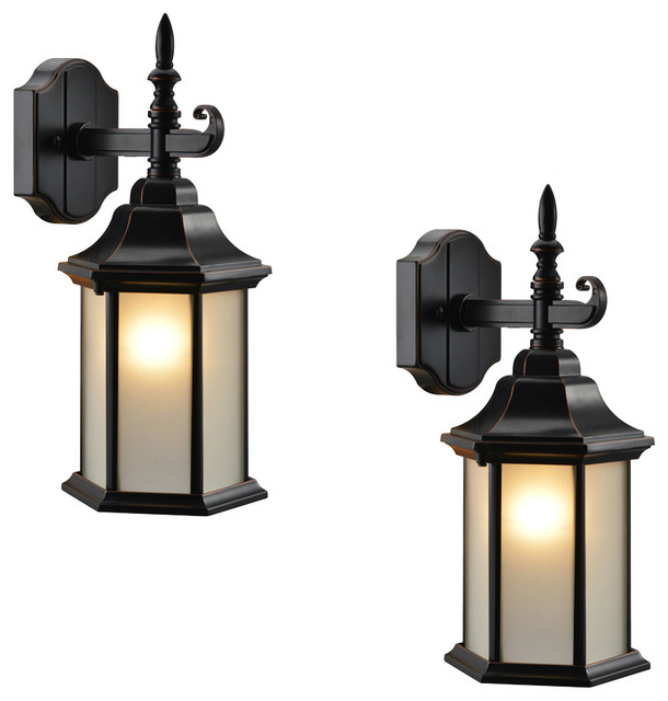 Latest Carner Outdoor Wall Lanterns Pertaining To Oil Rubbed Bronze Outdoor Patio/porch Exterior Light (View 12 of 20)