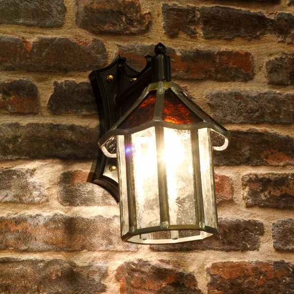 Latest Carrington Beveled Glass Outdoor Wall Lanterns Within Traditional Glass Outdoor Wall Lantern – Ip23 Rated (View 19 of 20)