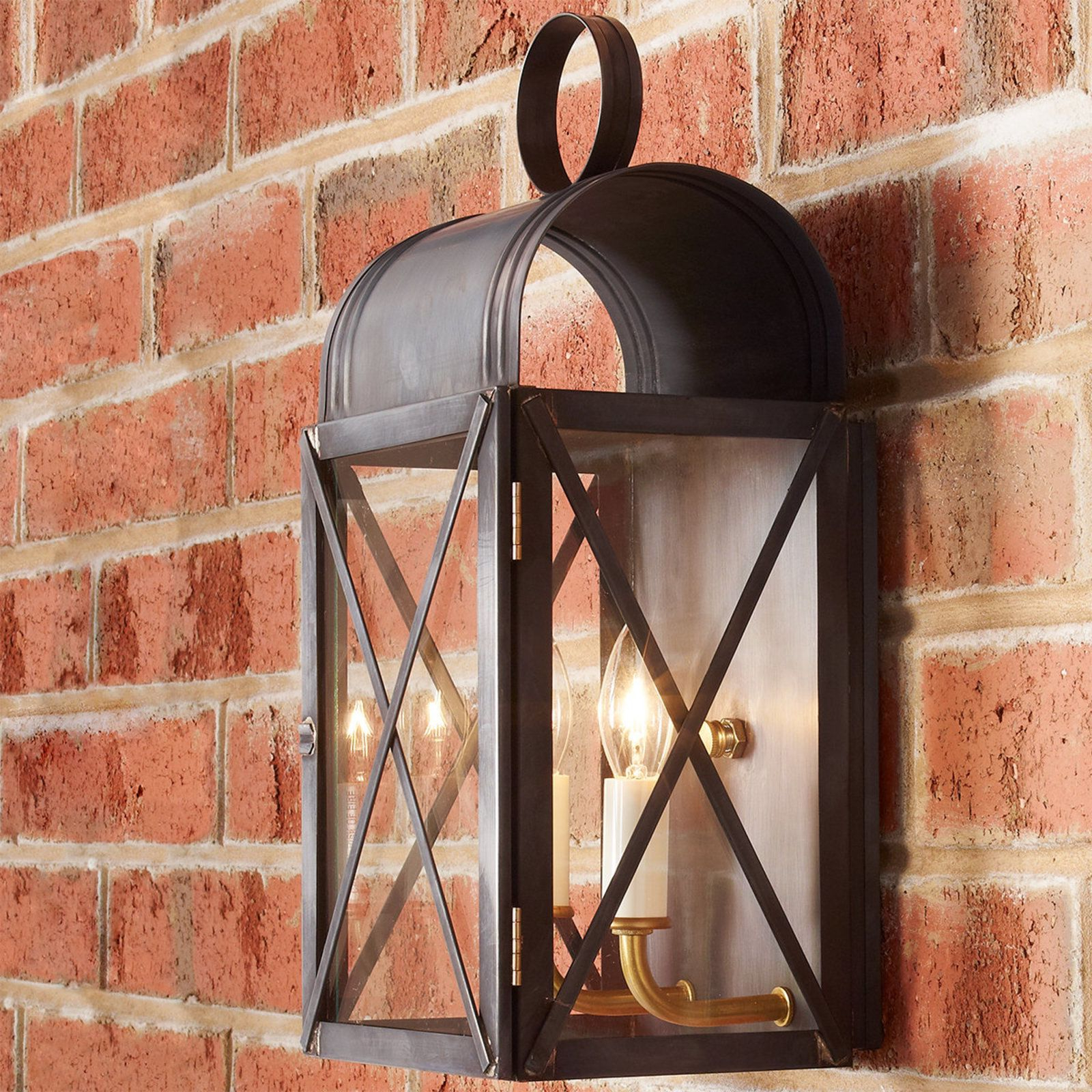 Latest Ciotti Black Outdoor Wall Lanterns Regarding Arched Jailer Outdoor Wall Light (View 20 of 20)