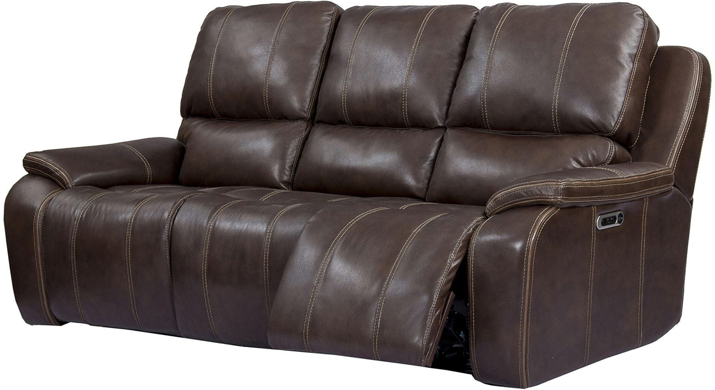 Latest Dual Power Reclining Sofas Inside Potter Leather Power Dual Reclining Sofa With Usb Charging (View 12 of 20)