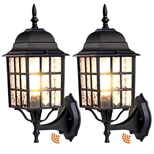 Latest Dusk To Dawn Sensor Outdoor Wall Light 2 Pack, Photocell In Ballina Matte Black Outdoor Wall Lanterns With Dusk To Dawn (View 6 of 20)