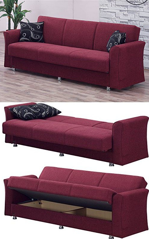 Latest Empire Furniture Usa Ohio Collection Convertible Folding Inside Twin Nancy Sectional Sofa Beds With Storage (View 12 of 20)