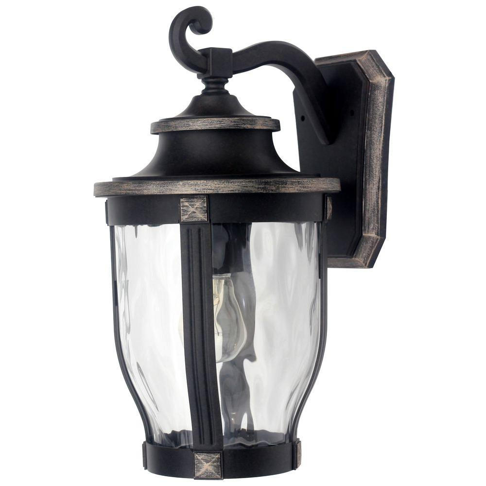 Latest Home Decorators Collection Mccarthy 1 Light Bronze Outdoor For 1 – Bulb Outdoor Wall Lanterns (View 6 of 20)