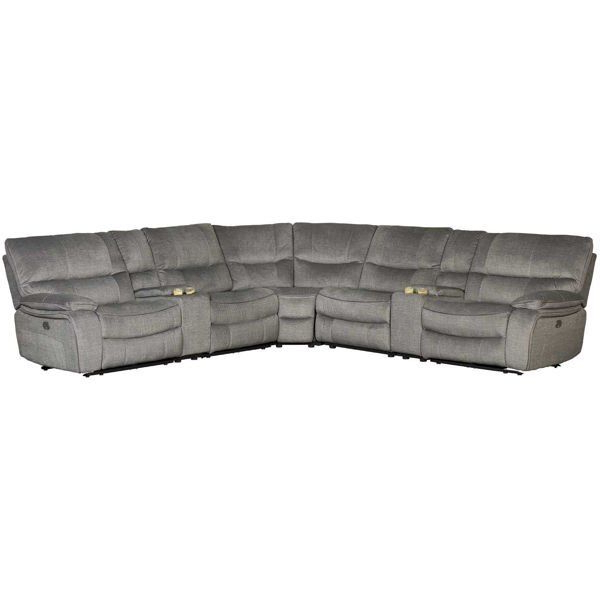 Latest Klaussner International Thomas 7 Piece Power Reclining In Magnus Brown Power Reclining Sofas (View 14 of 20)