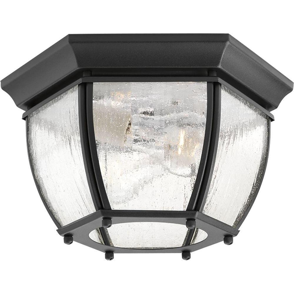 Latest Sheard Textured Black 2 – Bulb Wall Lanterns Pertaining To Progress Lighting Roman Coach Collection 2 Light Textured (View 6 of 20)