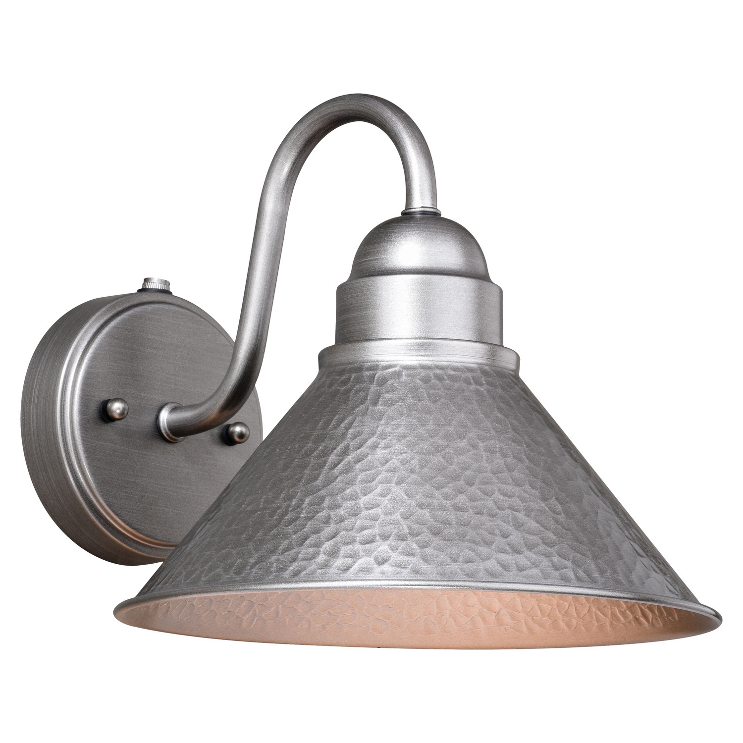 Latest Vaxcel Outland 1 Light Dusk To Dawn Farmhouse Barn Dome With Regard To Gunnora Outdoor Barn Lights With Dusk To Dawn (View 13 of 20)