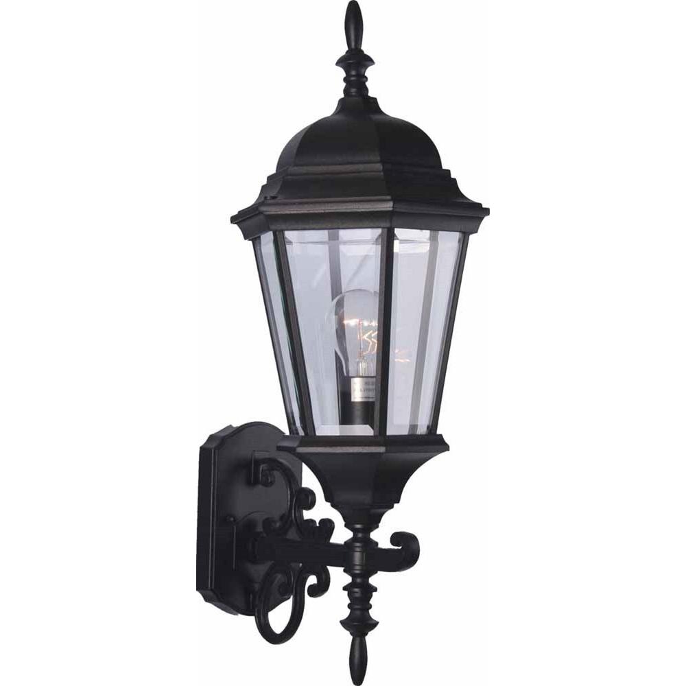 Latest Volume Lighting 1 Light Black Outdoor Wall Sconce V8211 5 Intended For Borde Black Outdoor Wall Lanterns (View 11 of 20)