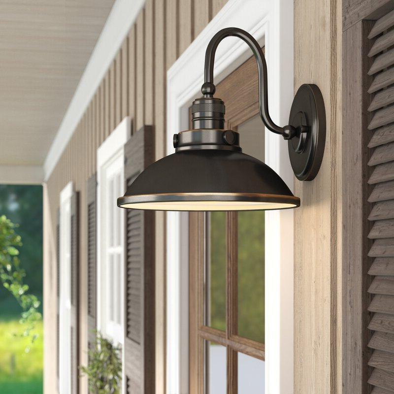 Laurel Foundry Modern Farmhouse Fannie 1 Light Outdoor Within Well Known Arryonna Outdoor Barn Lights (View 10 of 20)