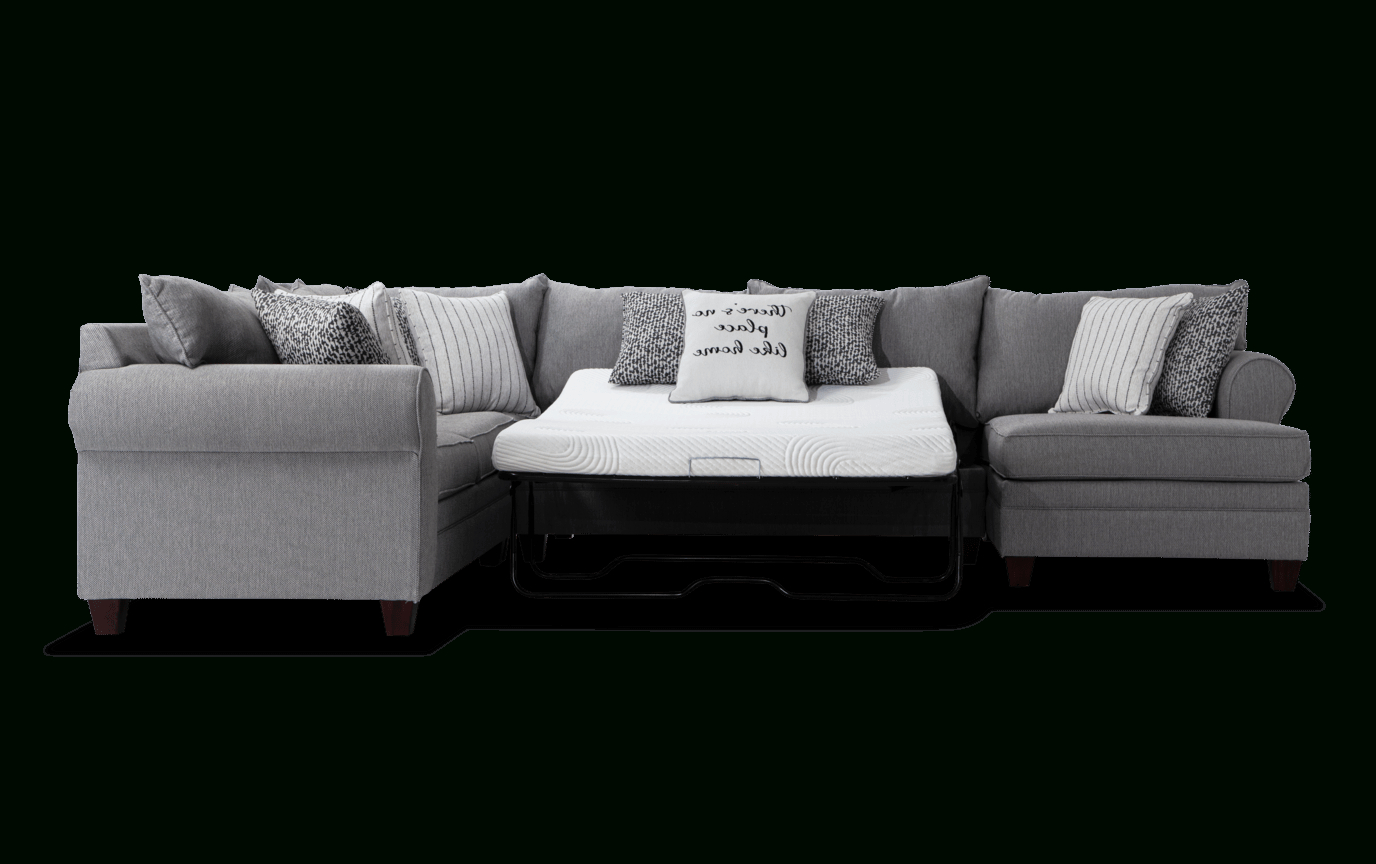 Laurel Gray 4 Piece Bob O Pedic Right Arm Facing Sleeper For Most Popular Laurel Gray Sofas (View 1 of 20)