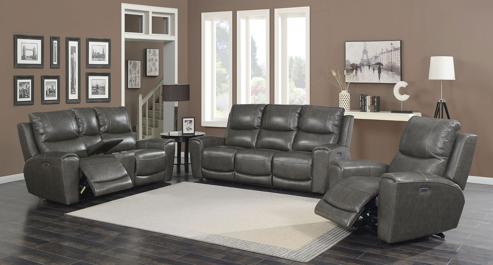 Laurel Gray Sofas For Well Known Laurel Power Reclining Living Room Set (grey) Steve Silver (View 7 of 20)