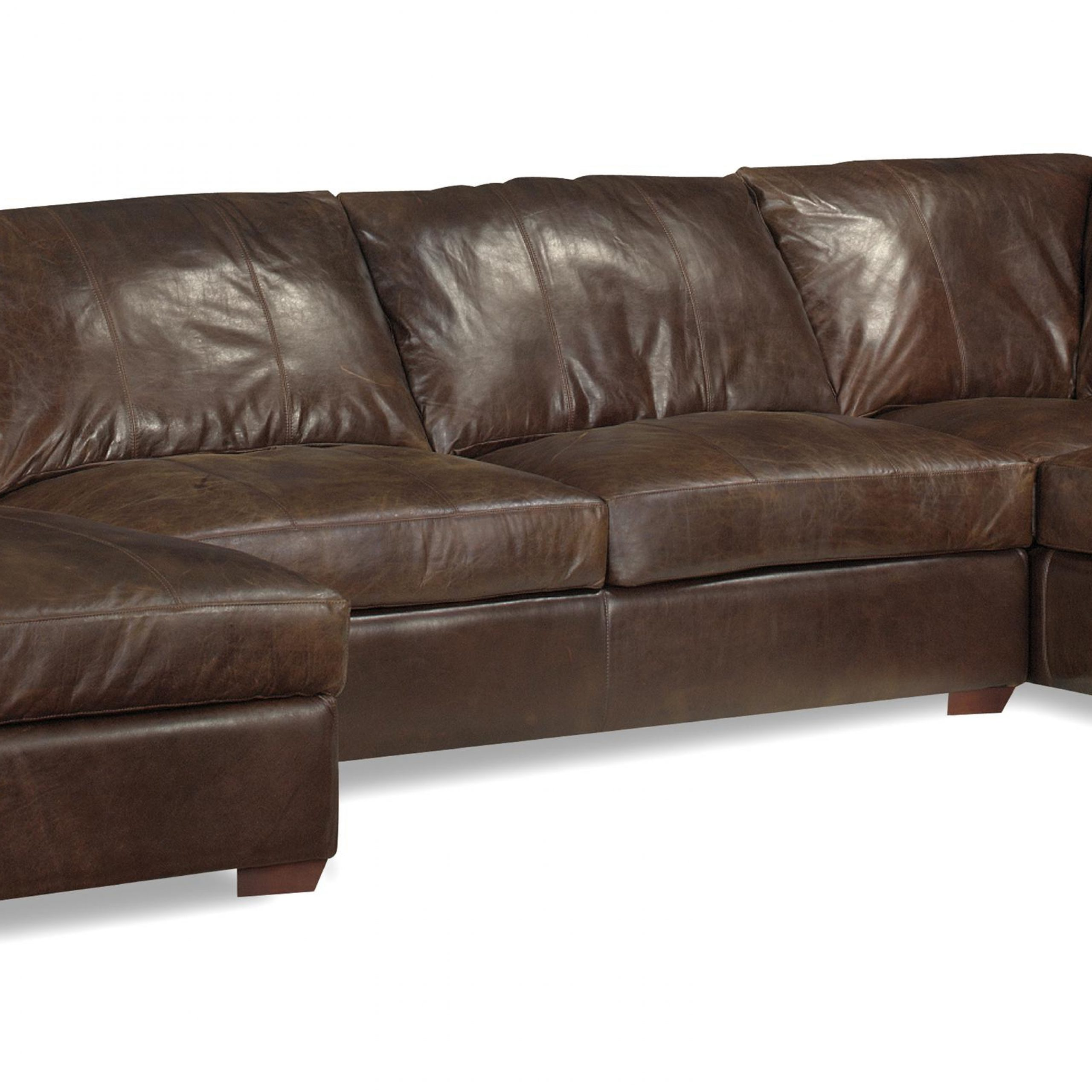 Leather Chaise Sectional Sofa Abbyson Tuscan Top Grain Inside Fashionable 3pc Miles Leather Sectional Sofas With Chaise (View 5 of 20)