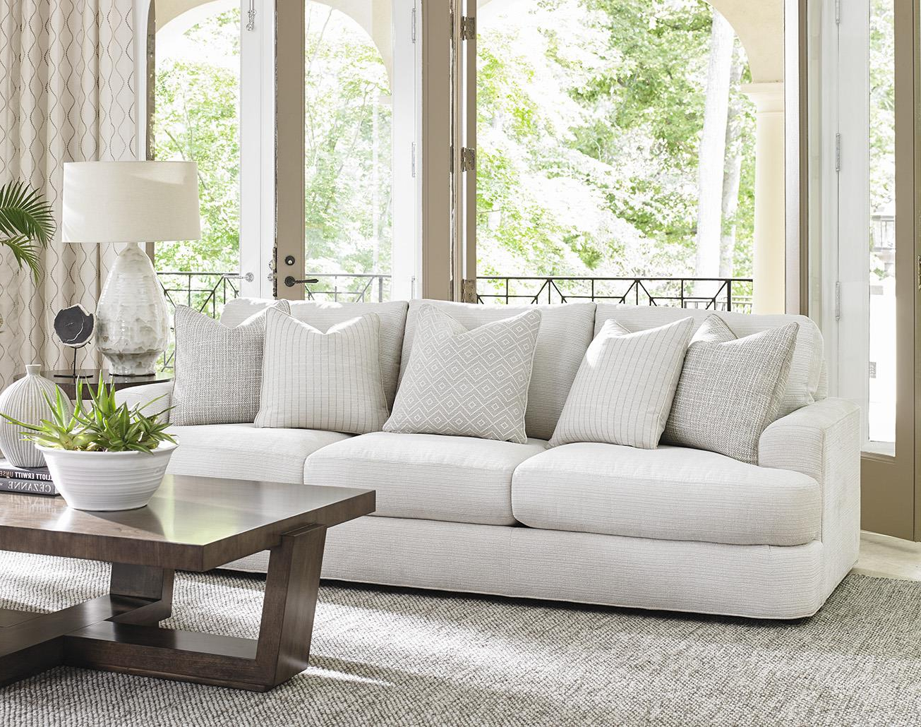 Lexington Laurel Canyon Halandale Contemporary Sofa With Pertaining To Current Laurel Gray Sofas (View 18 of 20)