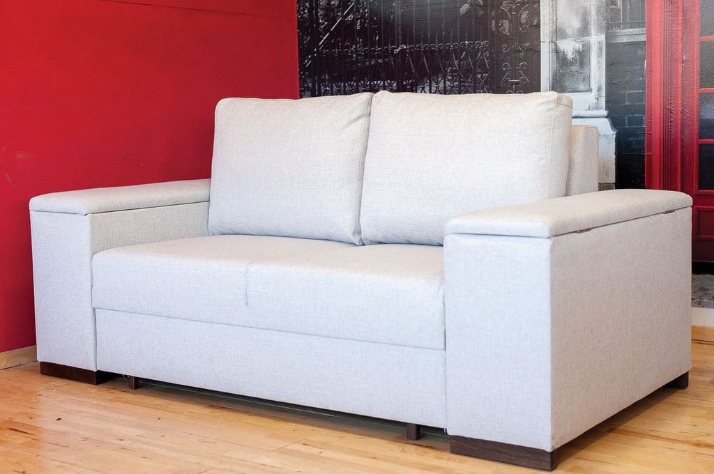 Liberty Sectional Futon Sofas With Storage Throughout Most Recently Released Tokyo Small 2 Seater Fabric Sofa Bed With Storage (View 12 of 20)