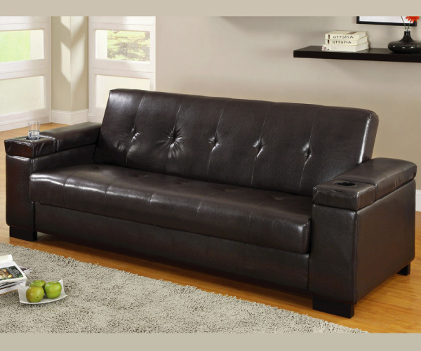 Liberty Sectional Futon Sofas With Storage Within Newest Logan Adjustable Sofa Bed Futon With Storage (View 6 of 20)