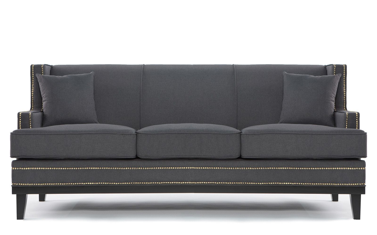 Linen Sofa, Sofa Within Newest Radcliff Nailhead Trim Sectional Sofas Gray (View 7 of 20)