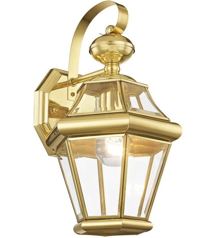 Livex Lighting 2161 02 Outdoor Wall Lantern With Clear Inside Current Bayou Beveled Glass Outdoor Wall Lanterns (View 14 of 20)