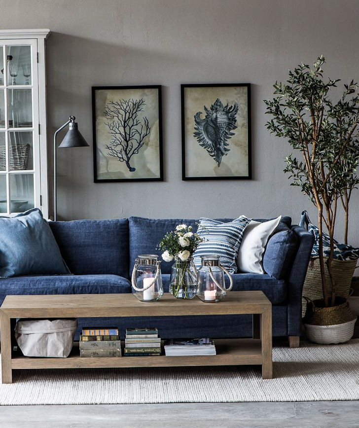 Living Within Newest Molnar Upholstered Sectional Sofas Blue/gray (View 20 of 20)