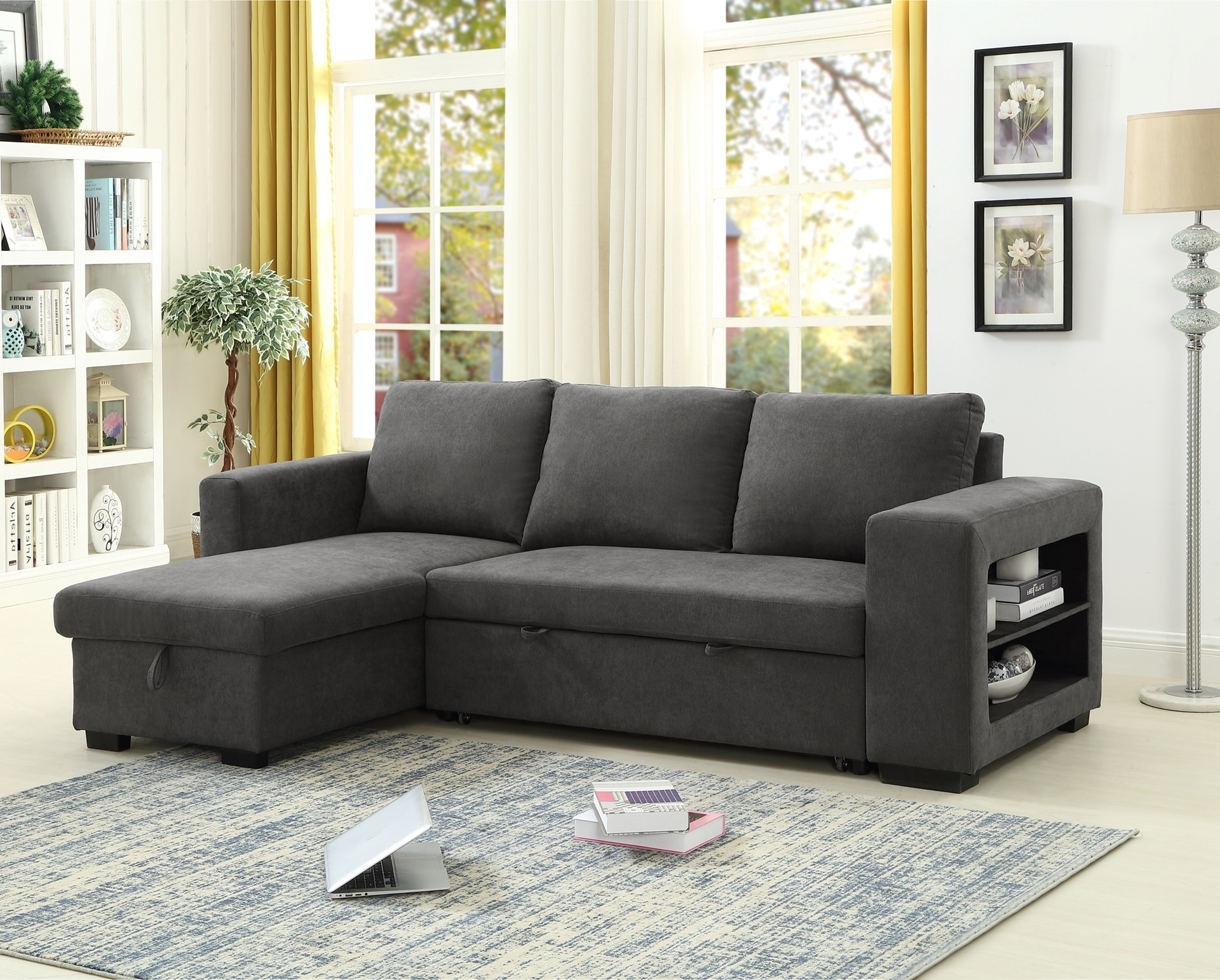 Lucena Reversible Sectional Sofa/sofa Bed With Storage Within Latest Palisades Reversible Small Space Sectional Sofas With Storage (View 3 of 20)