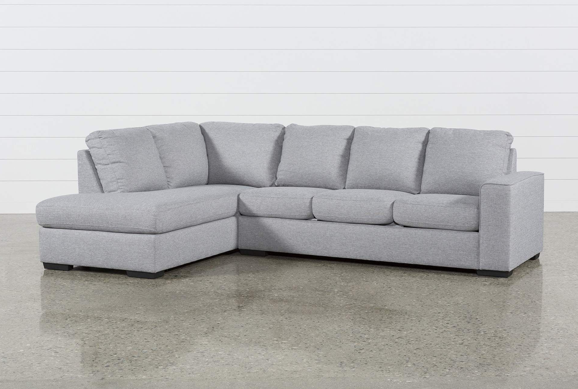 Lucy Grey 2 Piece Sectional Sofa With Right Arm Facing In Most Up To Date Monet Right Facing Sectional Sofas (View 15 of 20)