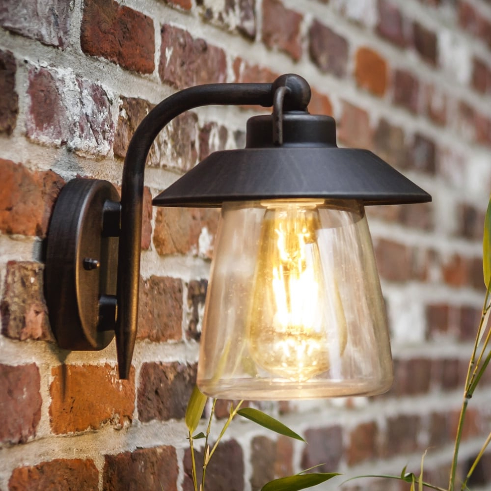 Lutec Cate Exterior Wall Lantern In Brown/black – Fitting Within Most Current Brookland Outdoor Wall Lanterns (View 2 of 20)