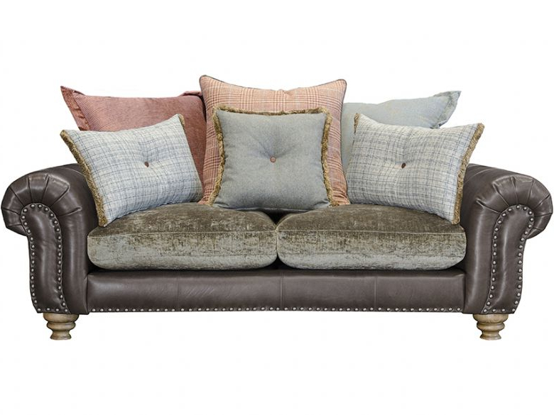 Lyvia Pillowback Sofa Sectional Sofas Intended For Popular Bloomsbury Small Pillow Back Sofa – Lee Longlands (View 8 of 20)