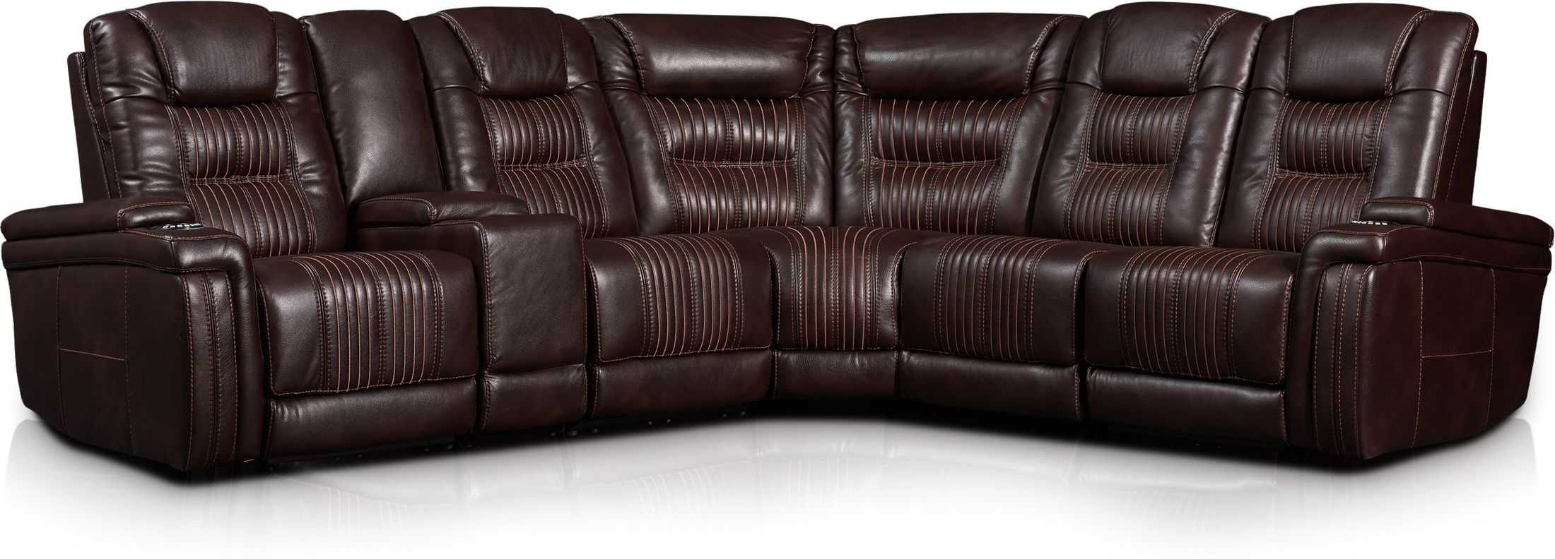 Magnus 6 Piece Triple Power Reclining Sectional With 3 Throughout Well Known Magnus Brown Power Reclining Sofas (View 1 of 20)