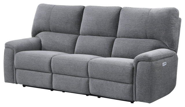 Magnus Brown Power Reclining Sofas In Current Ashland Power Reclining Sofa Collection – Transitional (View 2 of 20)