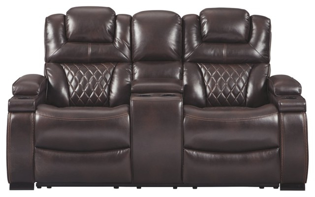 Magnus Brown Power Reclining Sofas Intended For Fashionable Polyester Upholstered Metal Power Reclining Loveseat With (View 11 of 20)