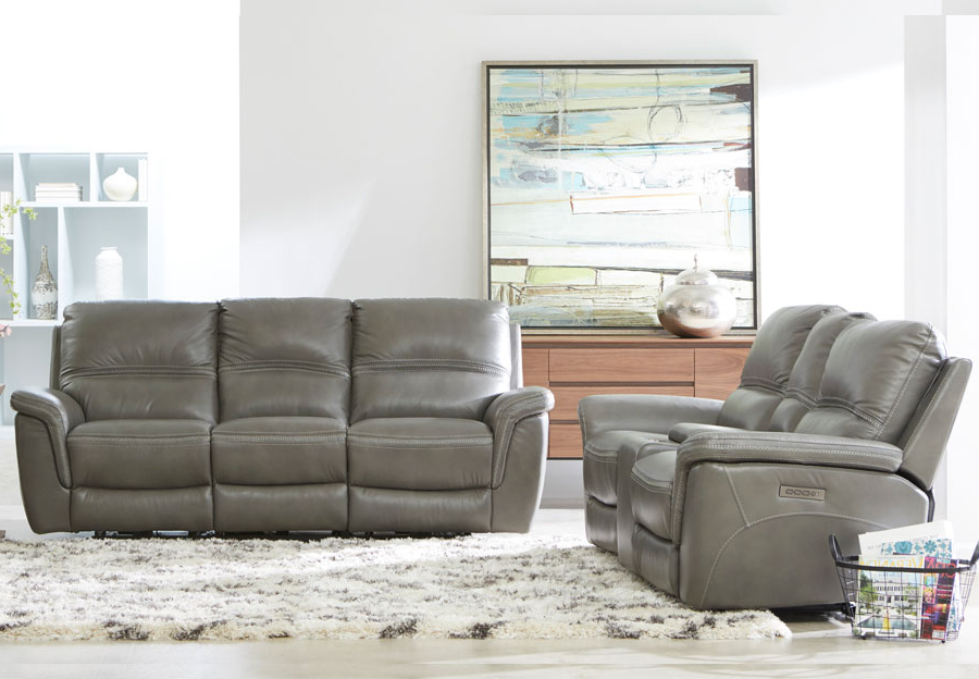 Magnus Brown Power Reclining Sofas With Regard To Preferred Mason Leather Reclining Sofa With Power Headrest And (View 9 of 20)