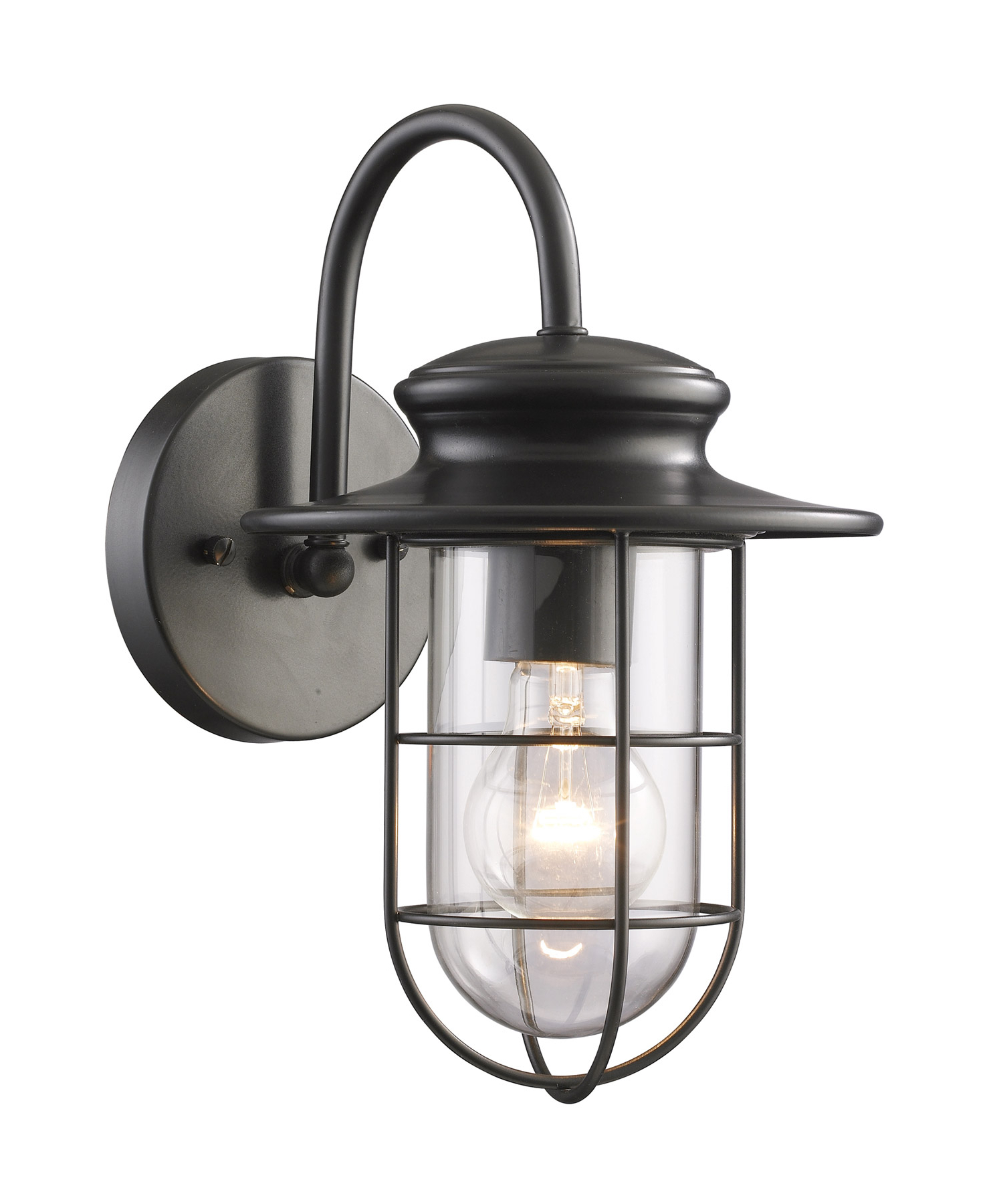 Malak Outdoor Wall Lanterns With Regard To Most Current Elk Lighting 42284/1 Portside Outdoor Wall Mount Lantern (View 19 of 20)