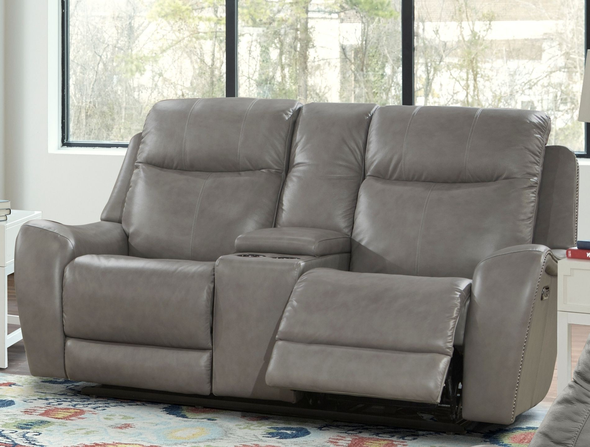 Mammoth Grey Dual Power Reclining Loveseat From Parker With Most Up To Date Dual Power Reclining Sofas (View 1 of 20)