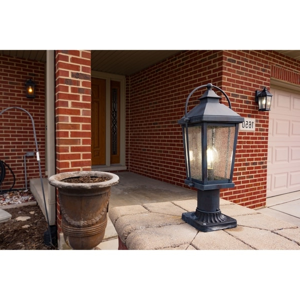 Manteno Black Outdoor Wall Lanterns With Dusk To Dawn For Trendy Shop Lexington 1 Light Dusk To Dawn Black Rectangle (View 6 of 20)