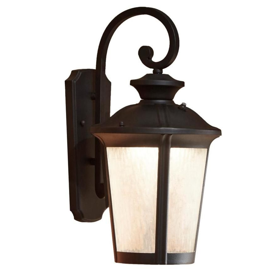 Manteno Black Outdoor Wall Lanterns With Dusk To Dawn Throughout Current Allen + Roth Dashwood  (View 4 of 20)