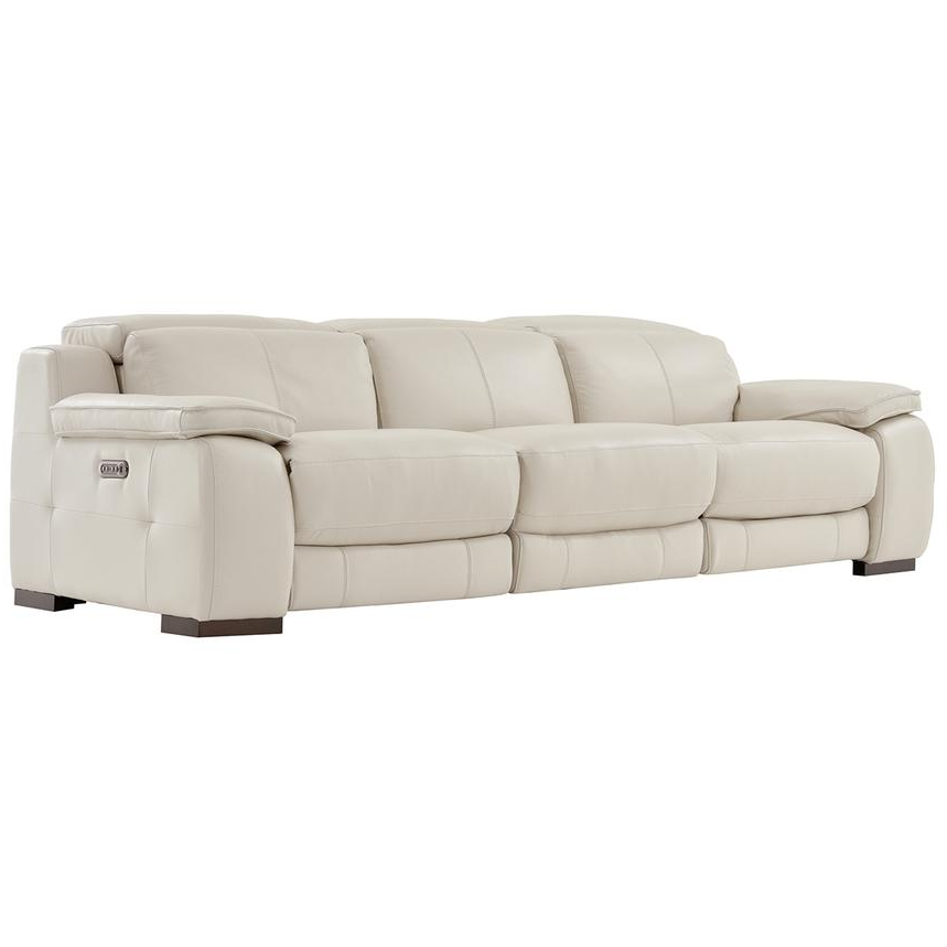 Marco Leather Power Reclining Sofas Pertaining To Latest Gian Marco Cream Oversized Leather Sofa (View 18 of 20)