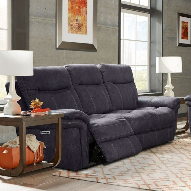 Mason Power Reclining Sofa W/ Power Headrests (charcoal Inside Most Recent Raven Power Reclining Sofas (View 2 of 20)