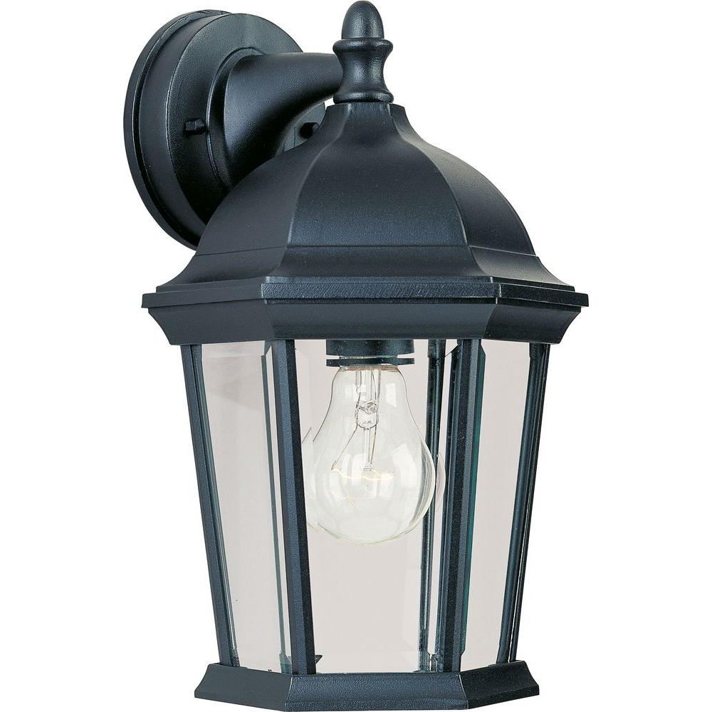 Maxim Lighting Builder Cast 1 Light Black Outdoor Wall Inside Widely Used Borde Black Outdoor Wall Lanterns (View 7 of 20)