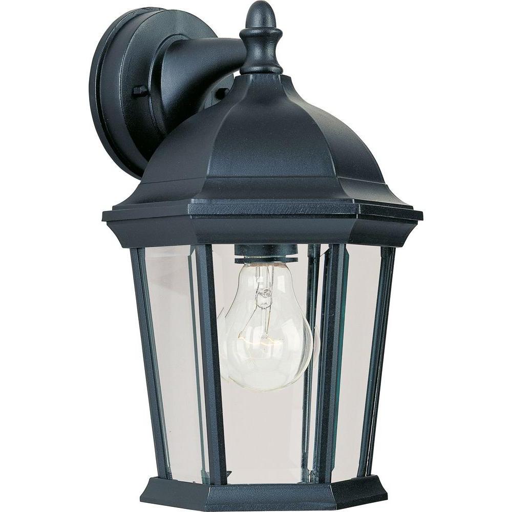 Maxim Lighting Builder Cast 1 Light Black Outdoor Wall Throughout Popular Garneau Black Wall Lanterns (View 10 of 20)