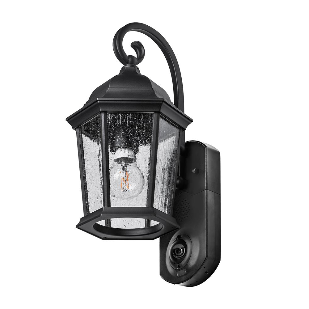 Maximus Coach Smart Security Textured Black Metal And Within Famous Merild Textured Black Wall Lanterns (View 12 of 20)