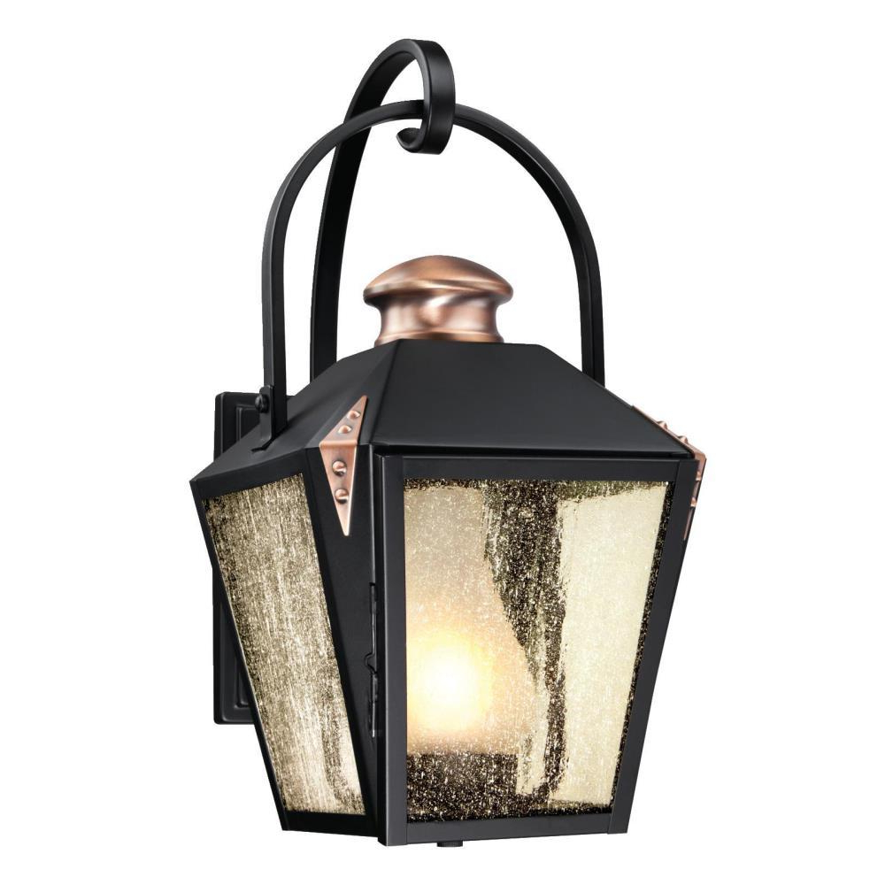 Mccay Matte Black Outdoor Wall Lanterns Intended For Most Up To Date Westinghouse Valley Forge Matte Black 1 Light Outdoor Wall (View 10 of 20)