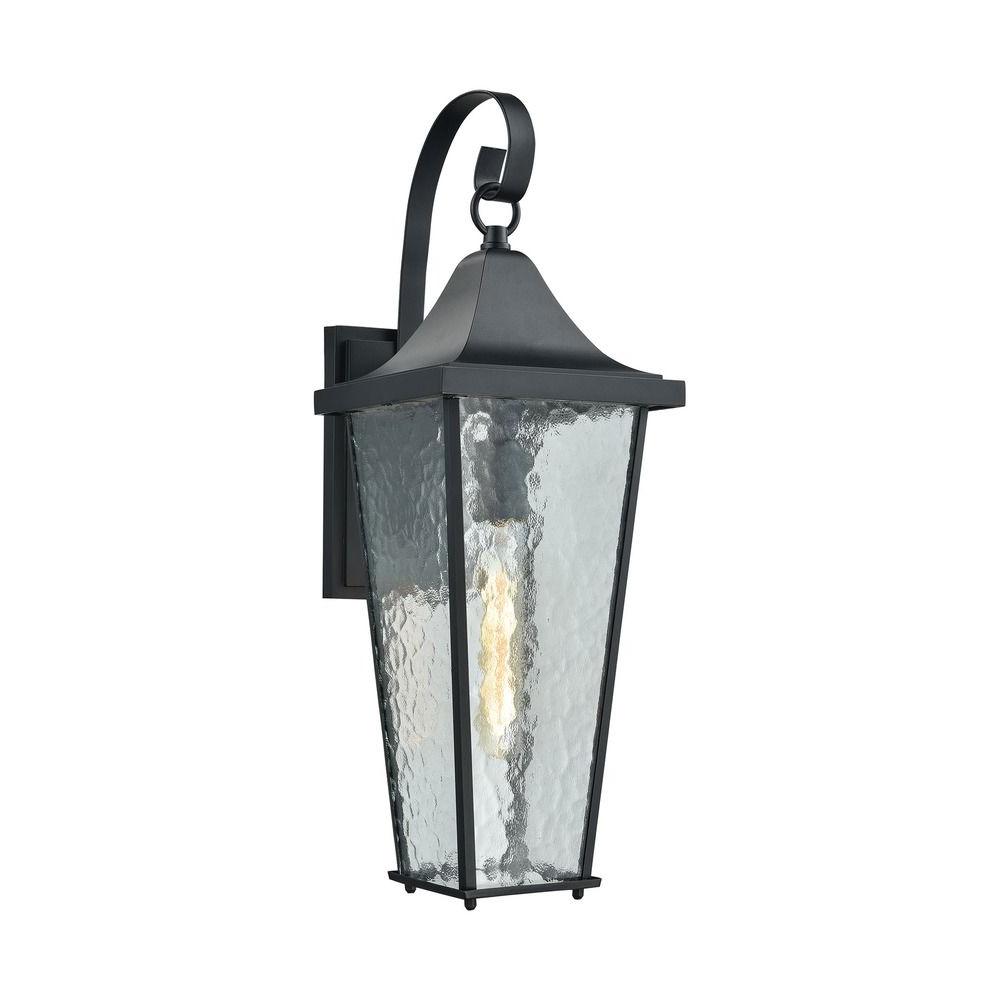 Mccay Matte Black Outdoor Wall Lanterns Intended For Popular Elk Lighting Vinton Matte Black Outdoor Wall Light (View 6 of 20)