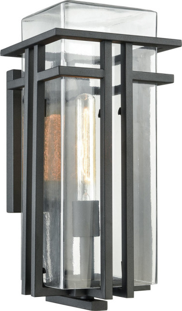 Mccay Matte Black Outdoor Wall Lanterns Pertaining To Recent Croftwell 1 Light Outdoor Wall Sconce, Textured Matte (View 12 of 20)