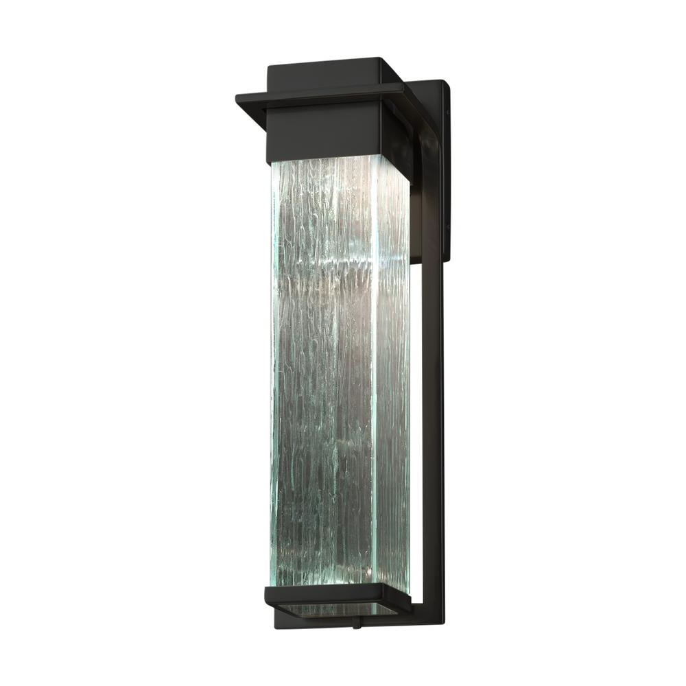 Mccay Matte Black Outdoor Wall Lanterns Regarding Preferred Justice Design Fusion Pacific Matte Black Led Outdoor Wall (View 14 of 20)