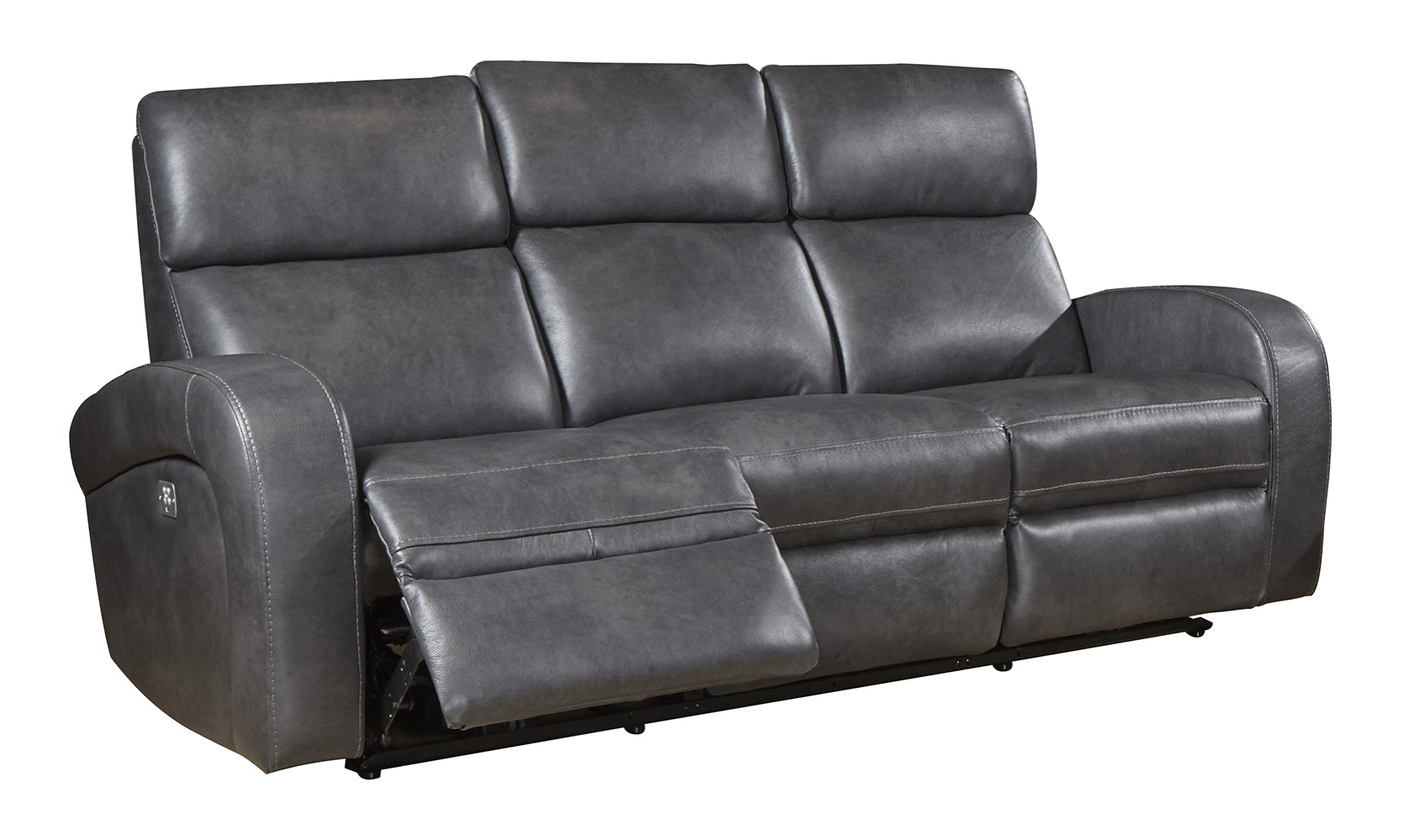 Mercury Fossil Transitional Power Dual Reclining Leather Within Favorite Dual Power Reclining Sofas (View 6 of 20)