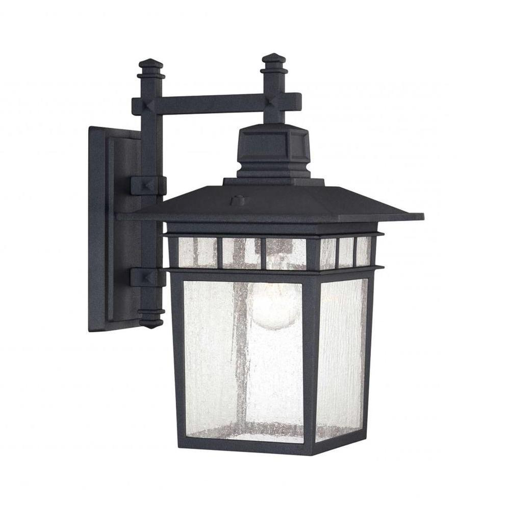Merild Textured Black Wall Lanterns Pertaining To Popular Westinghouse Albright Textured Black 1 Light Outdoor (View 14 of 20)