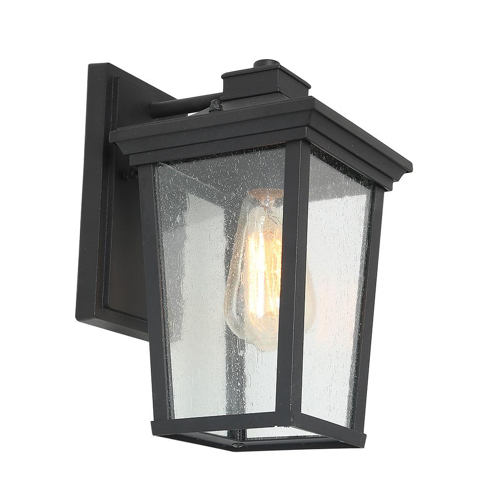 Meunier Glass Outdoor Wall Lanterns For 2019 Lnc 1 Light Black 4 In (View 15 of 20)