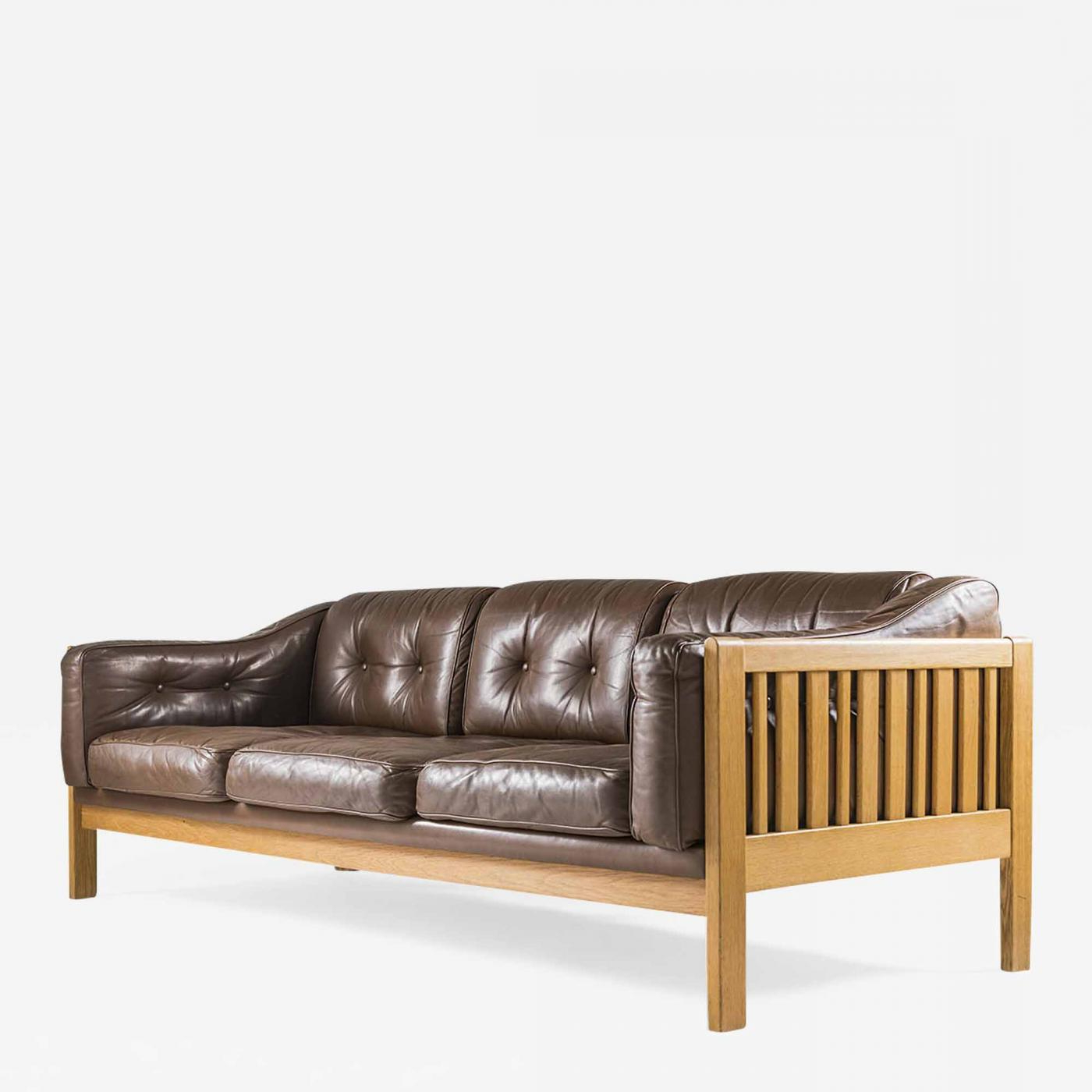 Mid Century Couch Leather With Best And Newest Florence Mid Century Modern Right Sectional Sofas Cognac Tan (View 9 of 20)