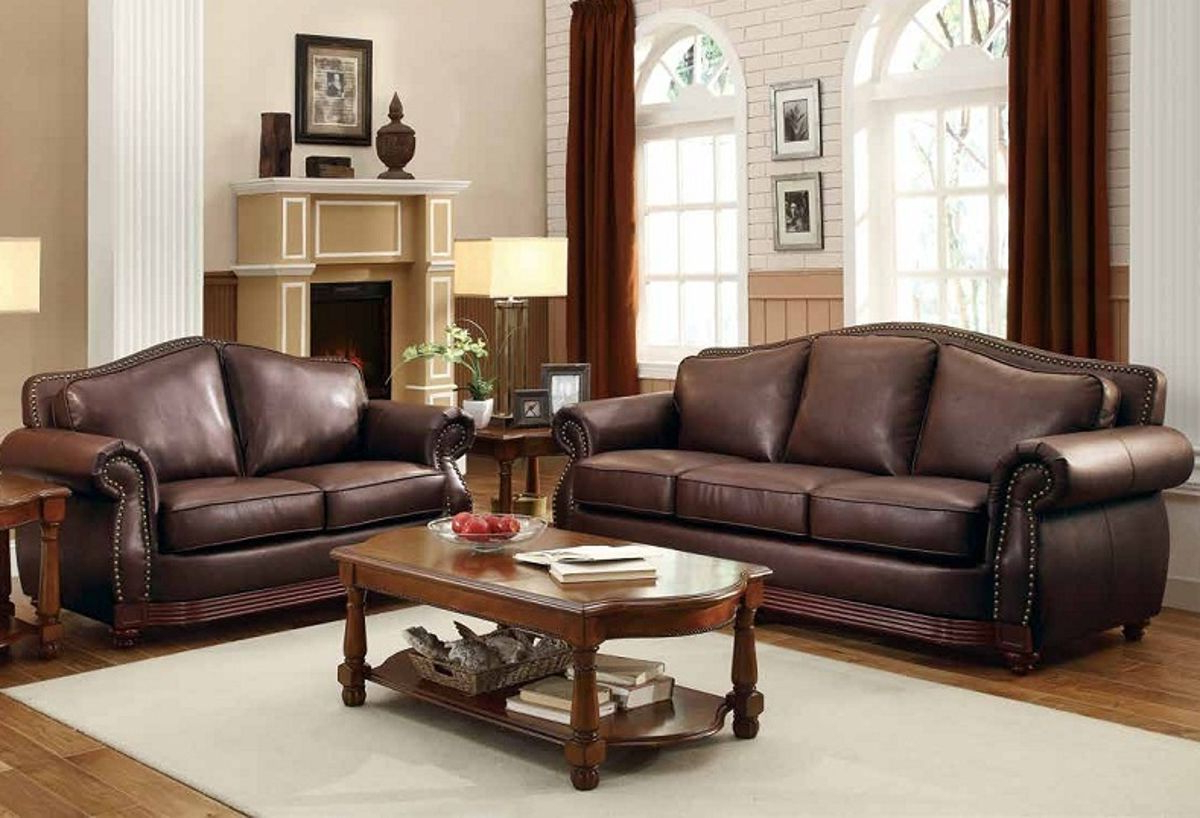 Midwood Rich Brown Wood Bonded Leather Sofa (View 17 of 20)