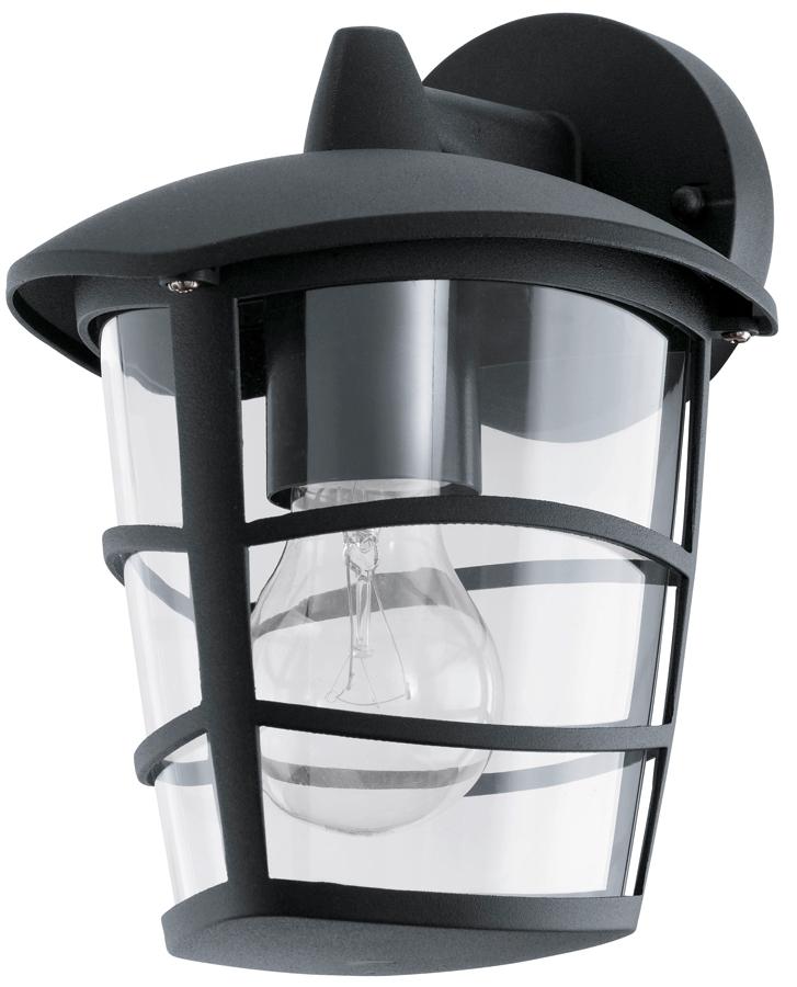 Modern Black Downward Lantern Outdoor Wall Lantern 93098 For Best And Newest Edinburg Black Outdoor Wall Lanterns (View 15 of 20)