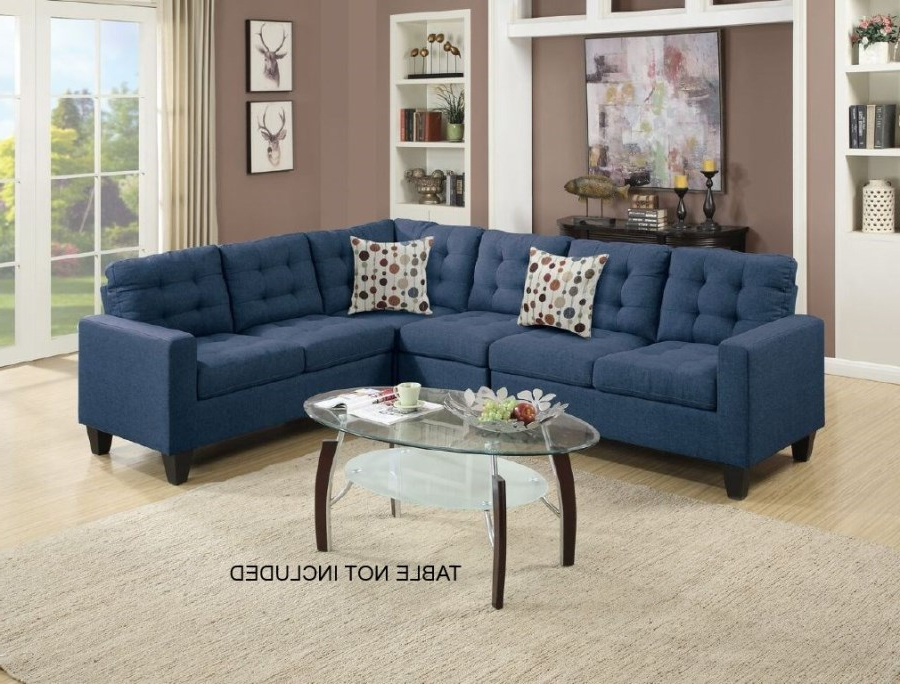 Modern Navy Blue Modular Sectional Couch Sofa Set (View 11 of 20)